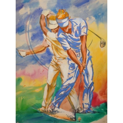 Contemporary Golf Art